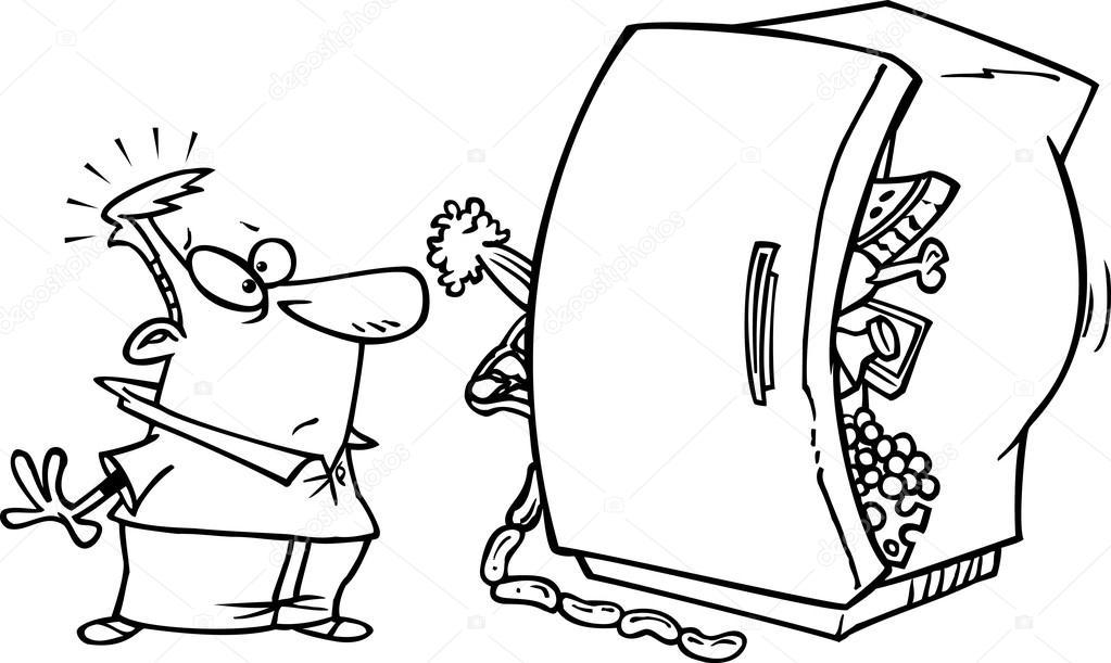 Dibujos De Refrigerador Para Colorear