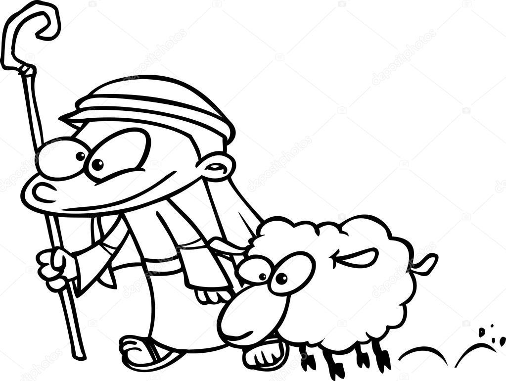 Cartoon Shepherd Boy — Stock Vector © ronleishman #13981443