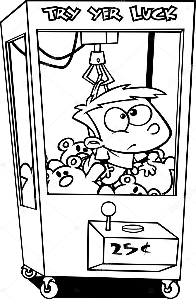 Cartoon Claw Machine — Stock Vector © ronleishman #13984755