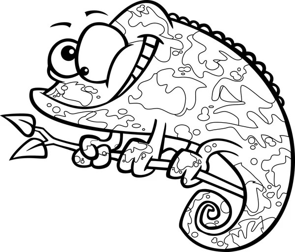 Reptielen en amfibieën kleurplaten pagina — Stockvector