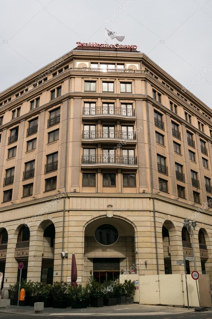 Five Star Hotel Westin Grand On Friedrichstrasse Stock