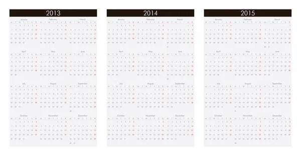 Calendar 2013, 2014, 2015 — Stock Vector © mashur #13128947