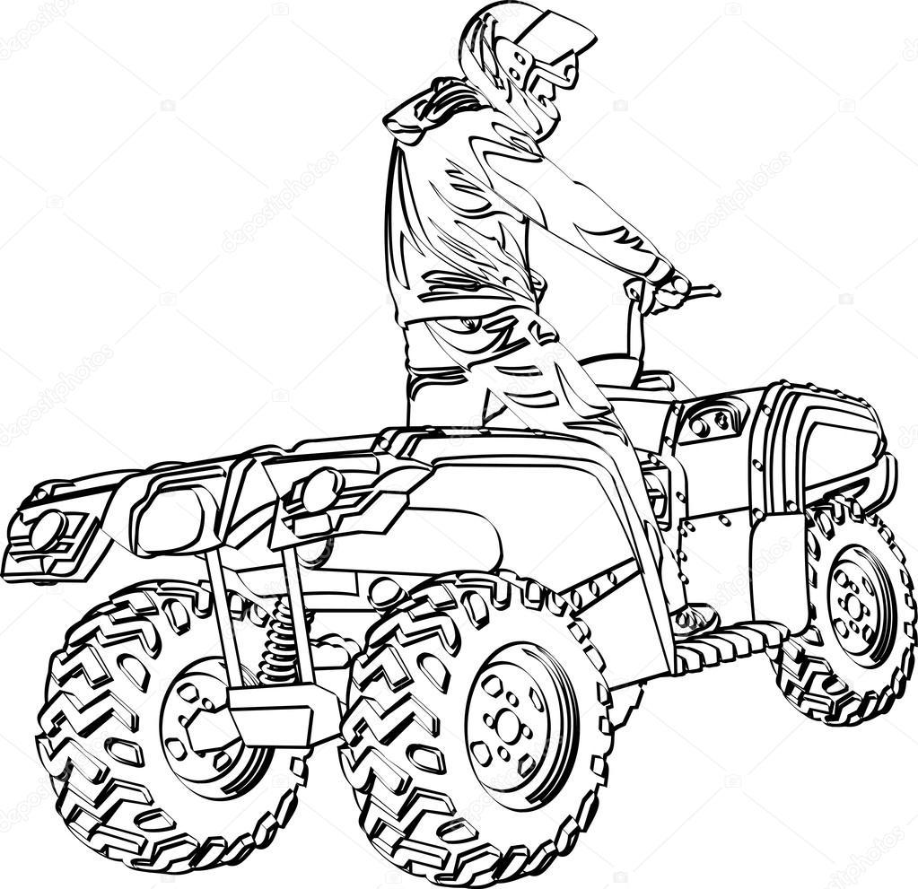 ATV off-road rider — Stock Vector © pellinni #21681981