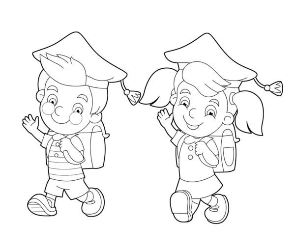 Umriss Einhorn Cartoon Tier für Kinder Zeichnung. Vektor