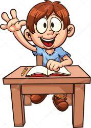 cartoon student clipart students boy animated vector memoangeles illustration clip classroom please smart repeat single st depositphotos drawing class cute