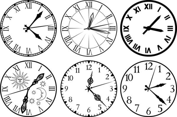 clocks stock vectors royalty