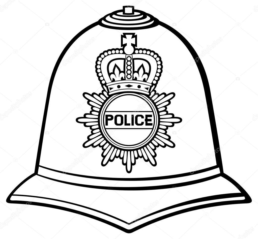 British police helmet — Stock Vector © Tribaliumivanka