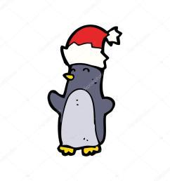 ping ino de navidad festiva vistiendo un sombrero realeza gratis vector clipart de dibujos animados vector [ 1024 x 1024 Pixel ]