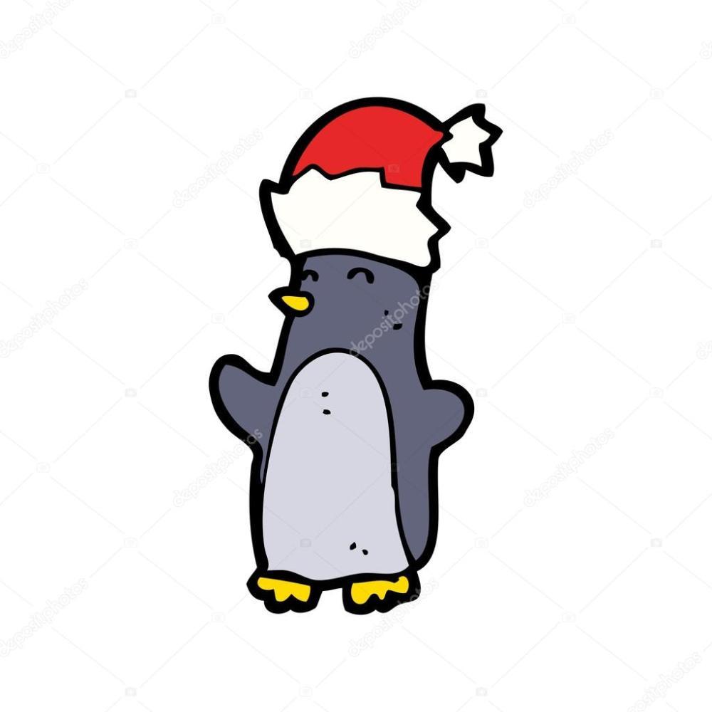 medium resolution of ping ino de navidad festiva vistiendo un sombrero realeza gratis vector clipart de dibujos animados vector