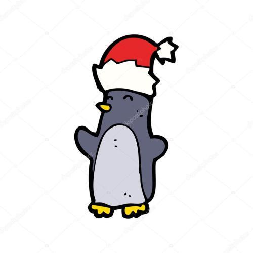 small resolution of ping ino de navidad festiva vistiendo un sombrero realeza gratis vector clipart de dibujos animados vector