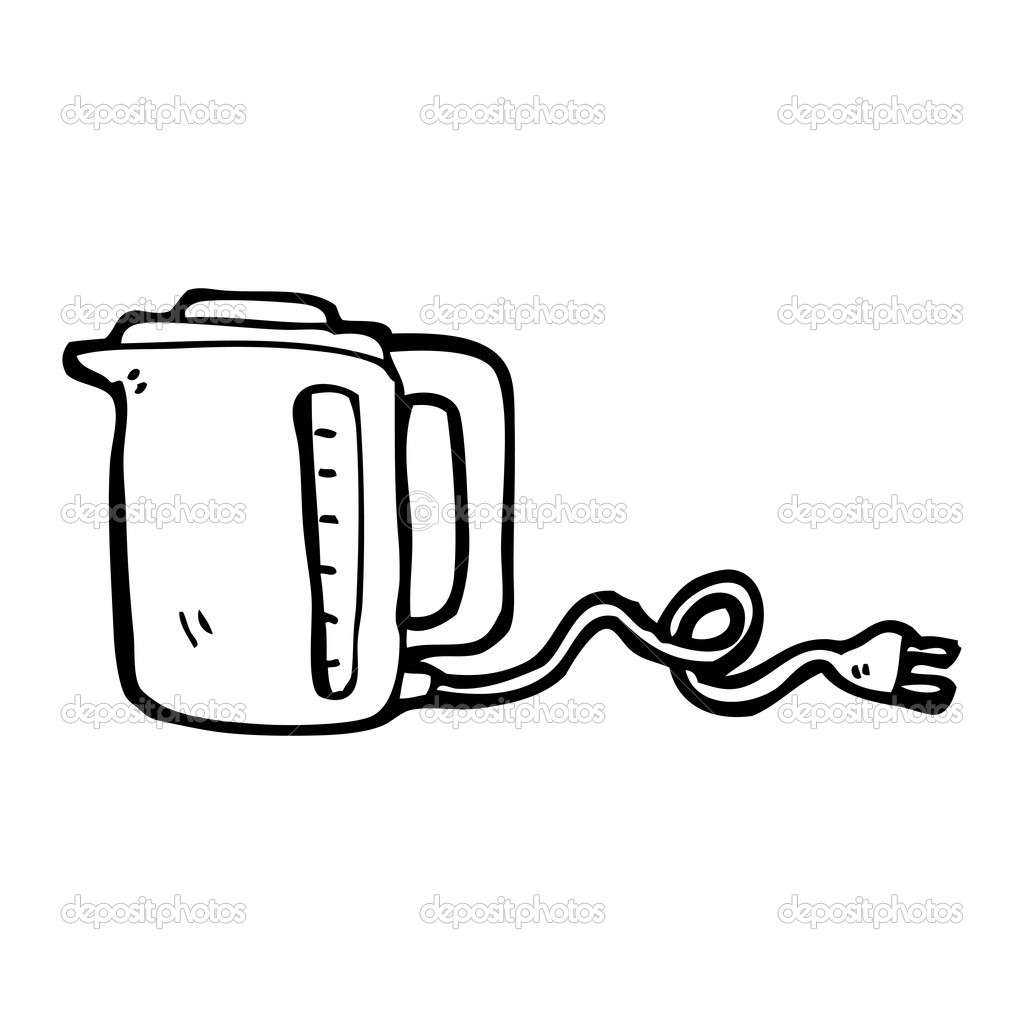 Electric Kettle Cartoon