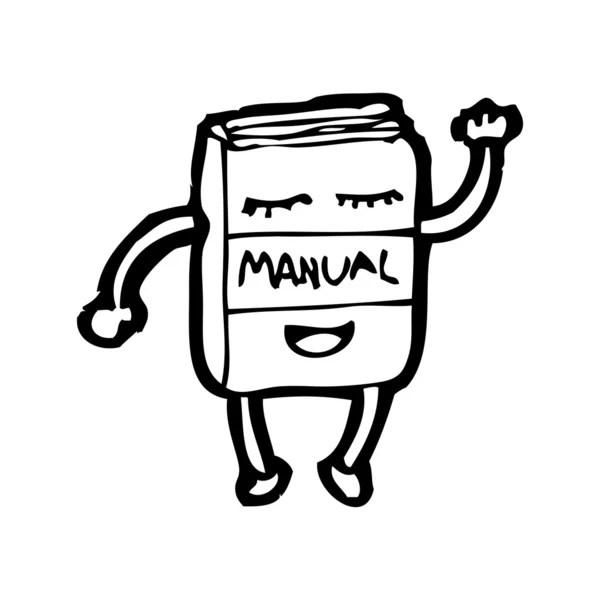 Manual waving cartoon — Stock Vector © lineartestpilot