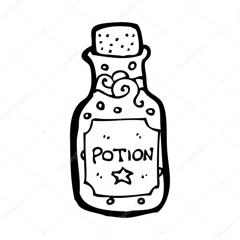 Potion in a bottle cartoon — Stock Vector