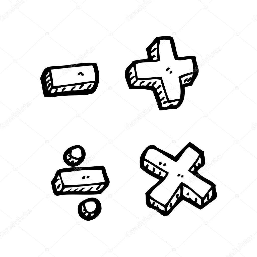 Dessin Anime Des Symboles Mathematiques