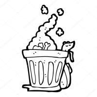 rata basura puede dibujos animados  Archivo Imgenes