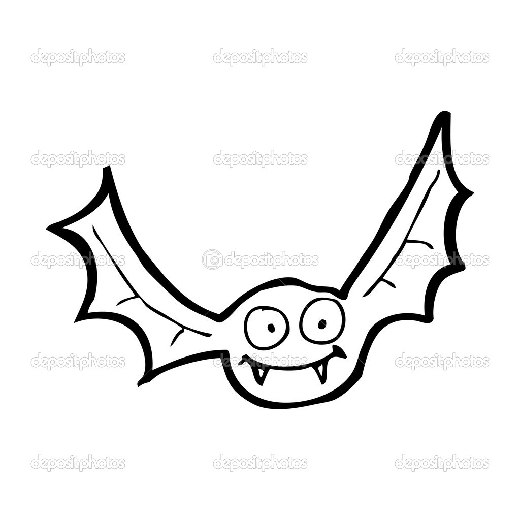 Happy vampire bat cartoon — Stock Vector © lineartestpilot