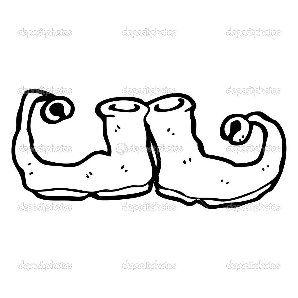 Zapatos De Duende De Navidad Dibujos Animados