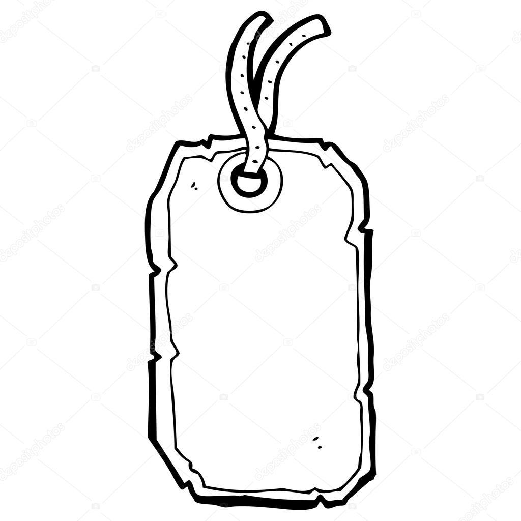 Luggage Label Cartoon
