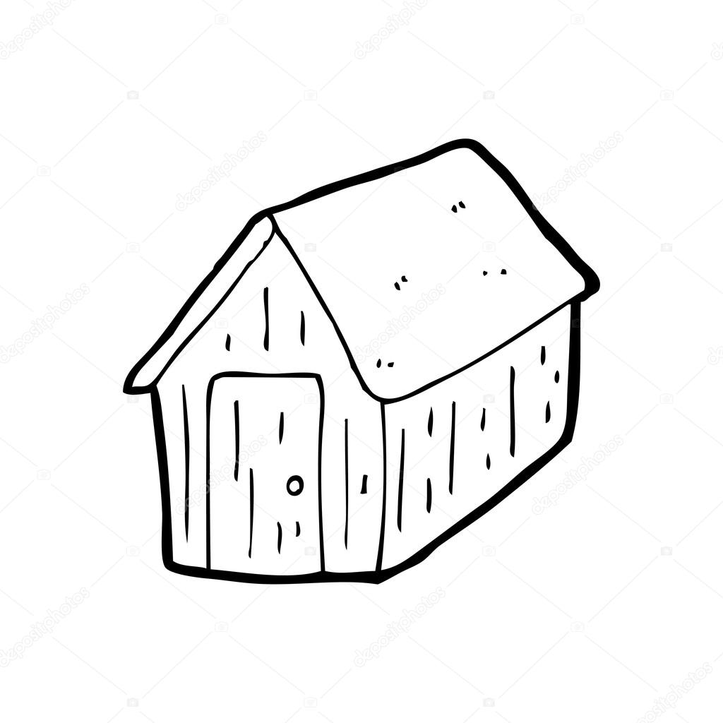 Shed cartoon — Stock Vector © lineartestpilot #20079109