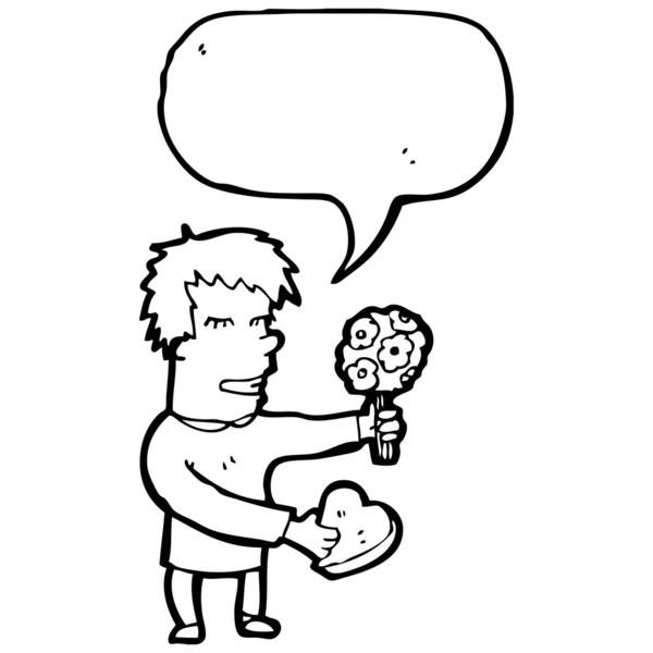hombre de dibujos animados en la primera cita — Archivo