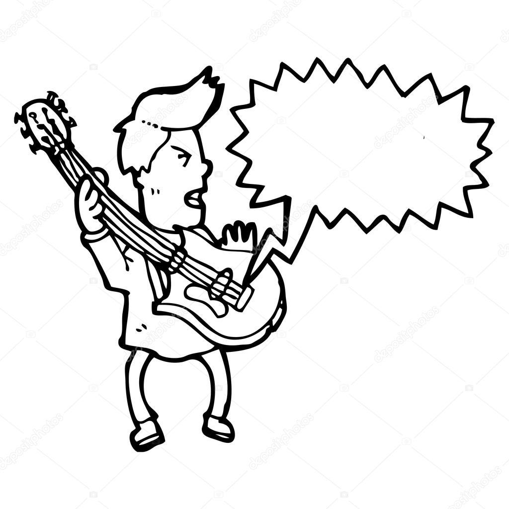 Elgitarr-spelare — Stock Vektor © lineartestpilot #20154237