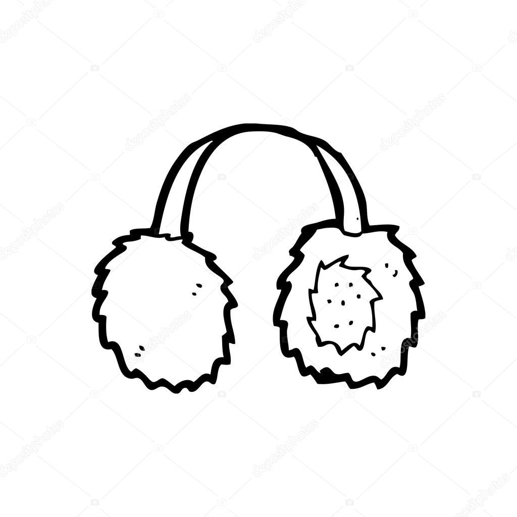 Vector Cartoon Earmuffs On A White Background