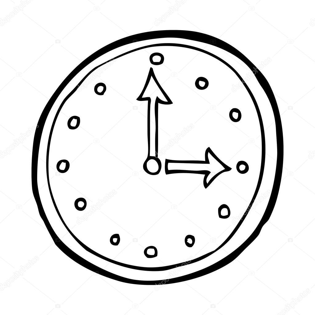Cartoon clock symbol — Stock Vector #38437885
