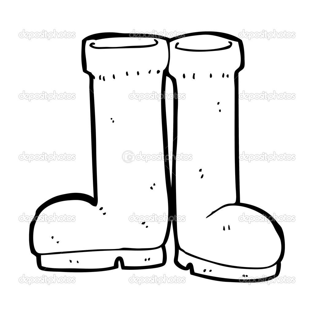 cartoon rubber boots — Stock Vector © lineartestpilot