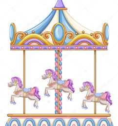 a horse ride at the carnival stock vector [ 812 x 1023 Pixel ]