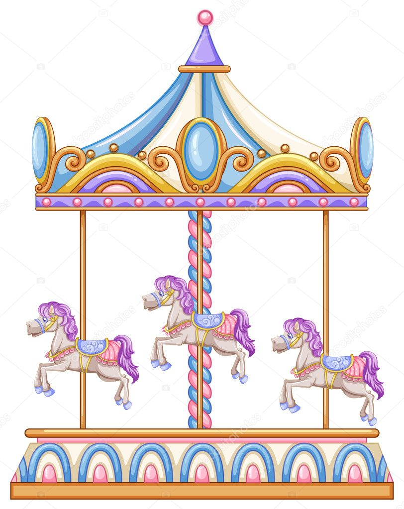 hight resolution of a horse ride at the carnival stock vector