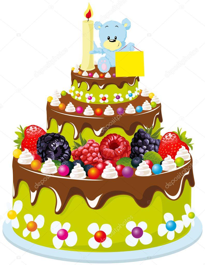 Tort urodzinowy  Grafika wektorowa  hanaschwarz 15882461