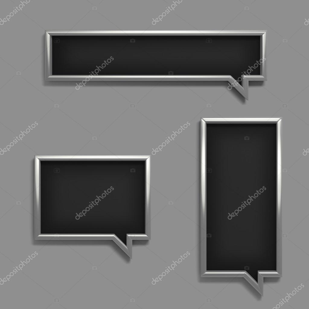 set of blank 3d