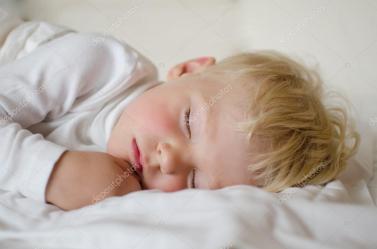sleeping boy cute years depositphotos he really