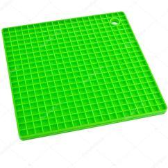 Green Kitchen Mat Pantry Organizers 绿色厨房硅胶餐垫 图库照片 C Madllen 48502057