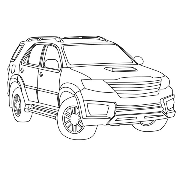 Vector Outline Mitsubishi Lancer Free Download