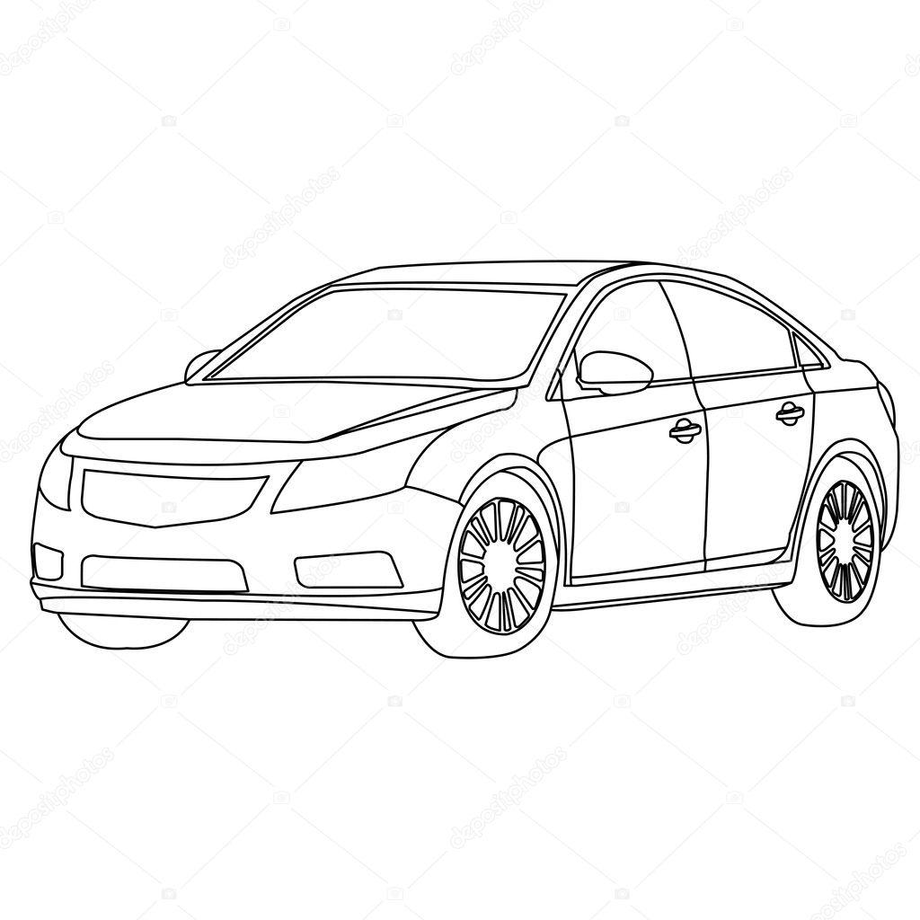Car Outline Vector Stock Vector C Attaphongw 21777151