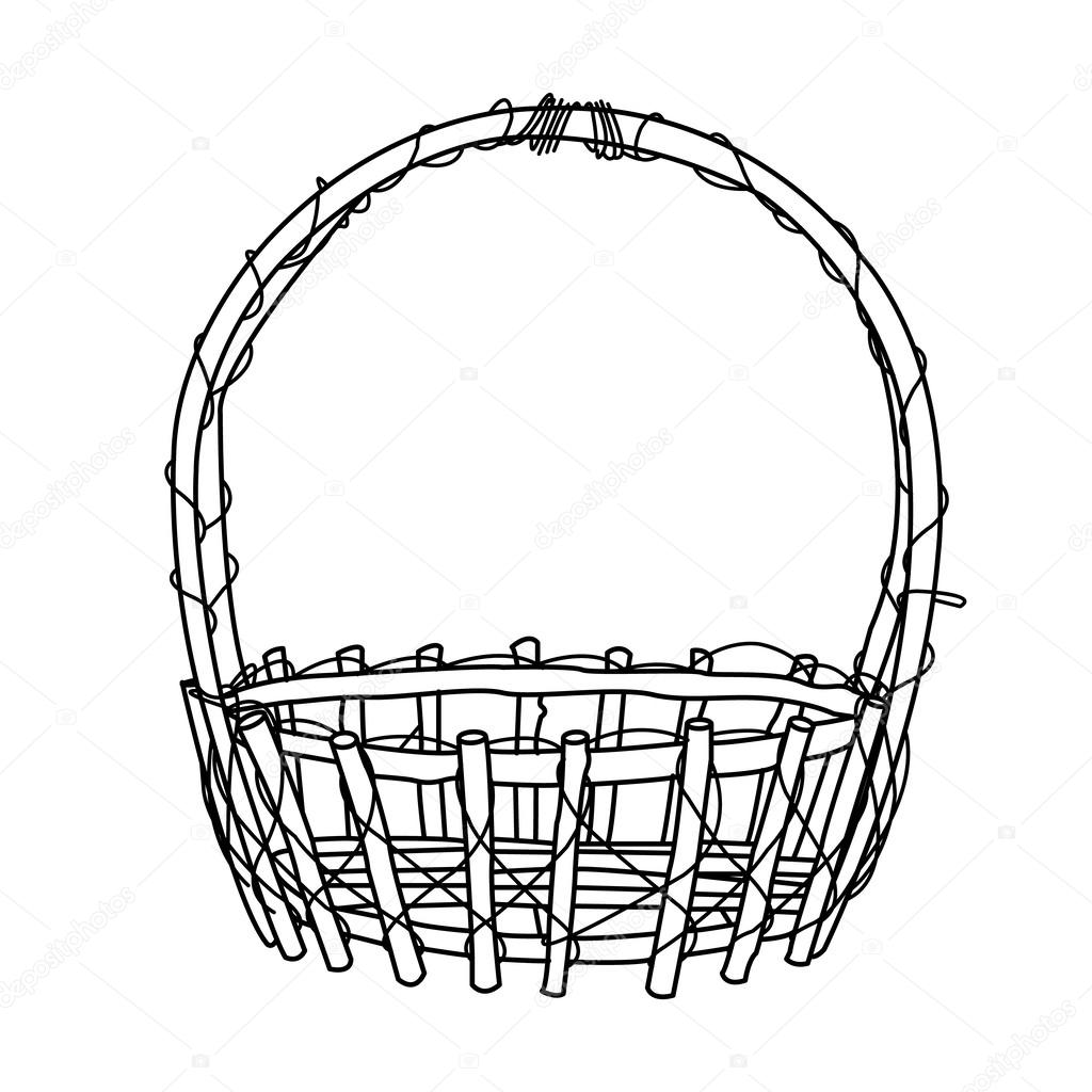 Empty Basket Storage Coloring Pages