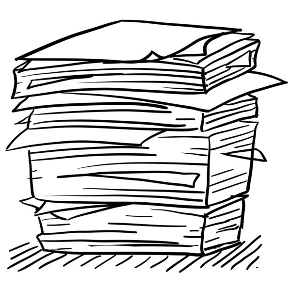 Stack of work papers sketch — Stock Vector © lhfgraphics
