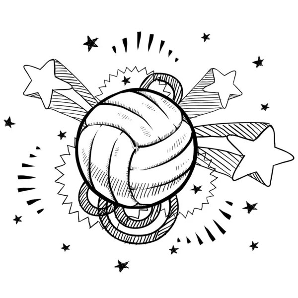 Volleyball sketch — Stock Vector © lhfgraphics #13988245