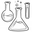 Sketch of test tube. vector illustration — Stock Vector