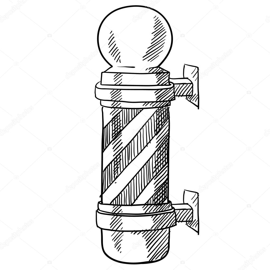 Barbers Pole Sketch