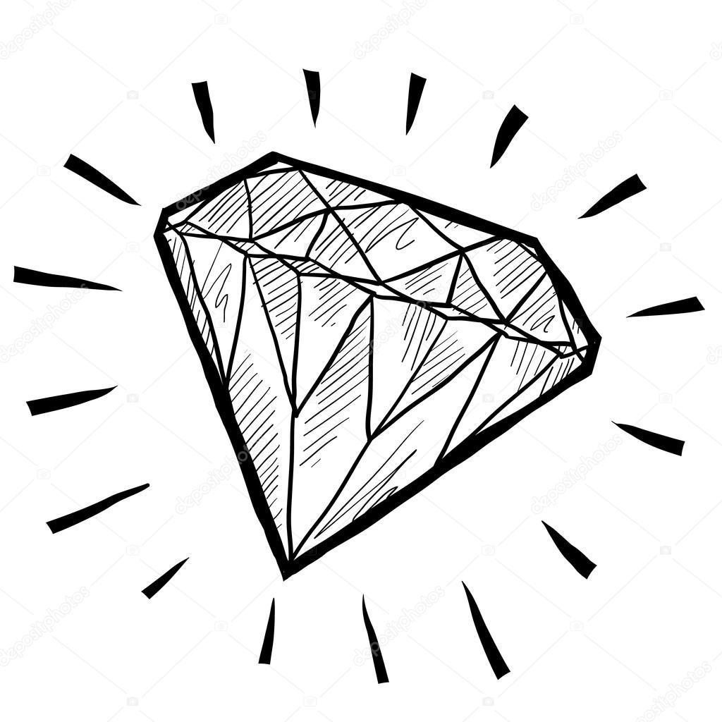Diamond Gem Sketch