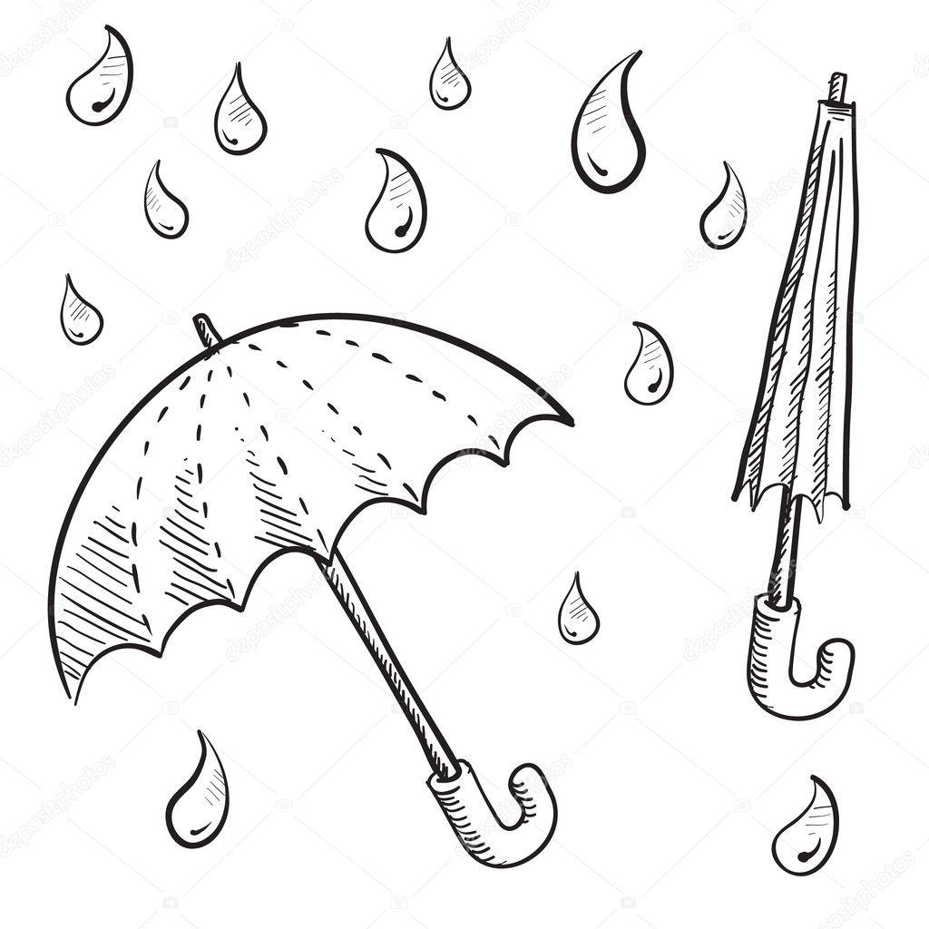 Umbrella Or Parasol Sketch