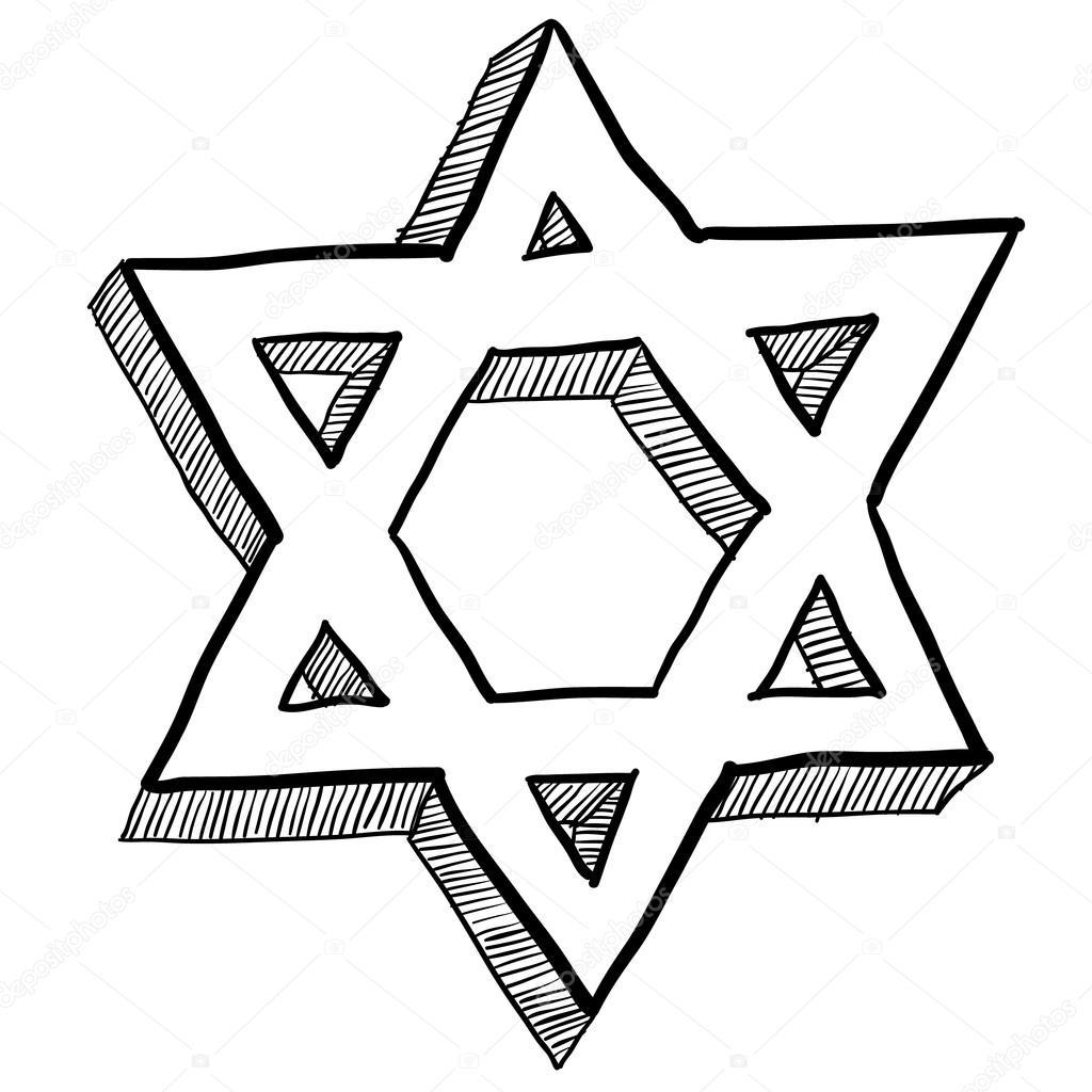 Desenho De Estrela De Davi