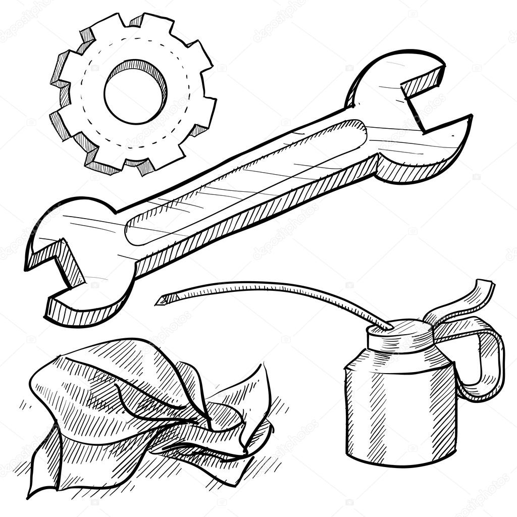 Car mechanics tools — Stock Vector © lhfgraphics #14135755