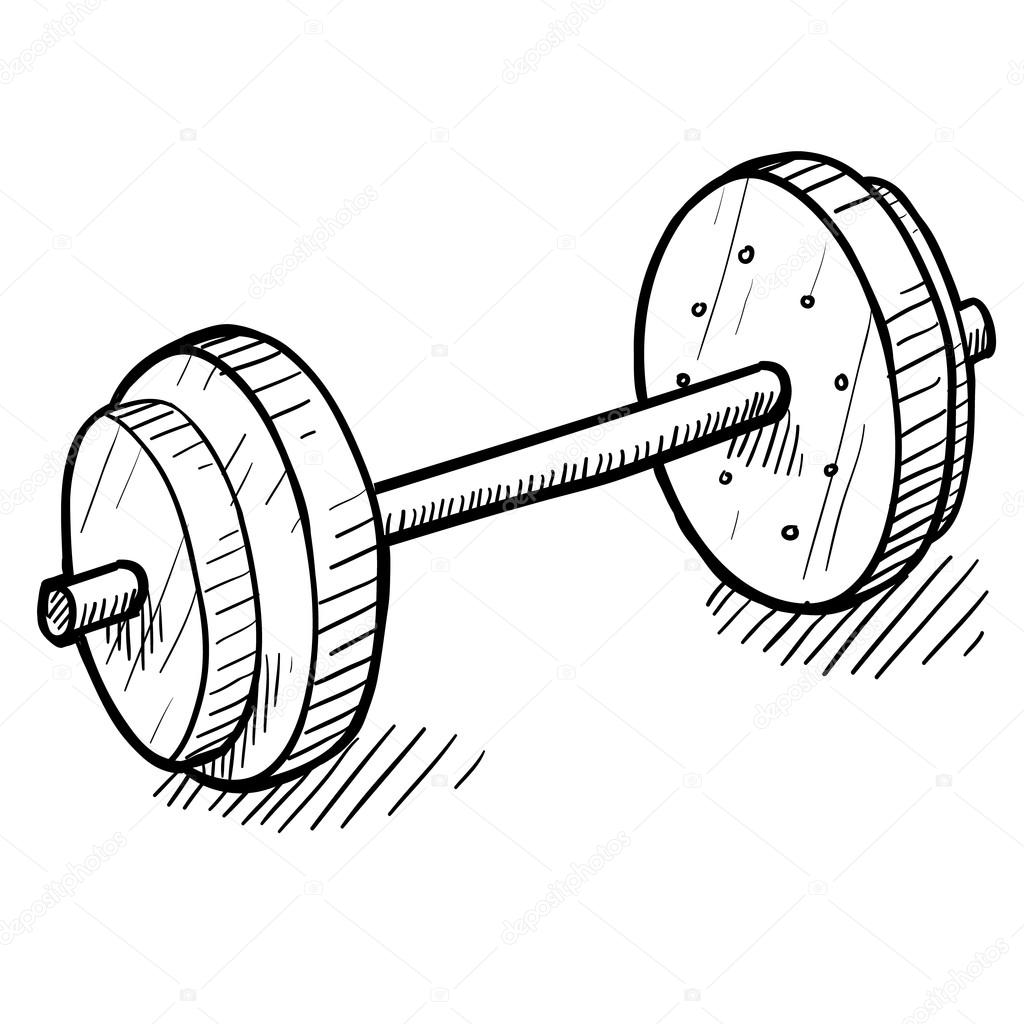 Weightlifting sketch — Stock Vector © lhfgraphics #14136118