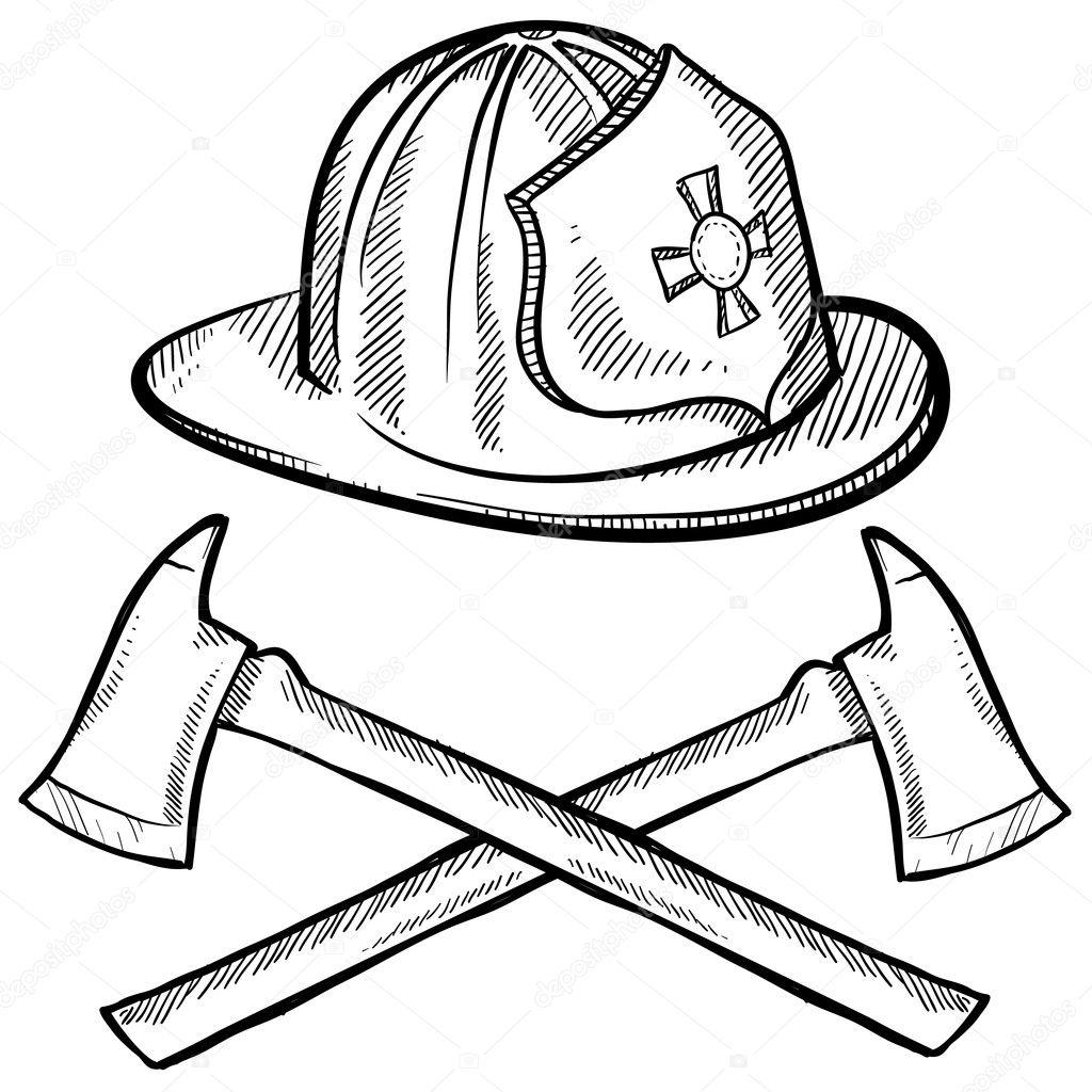 Firefighter Equipment Sketch