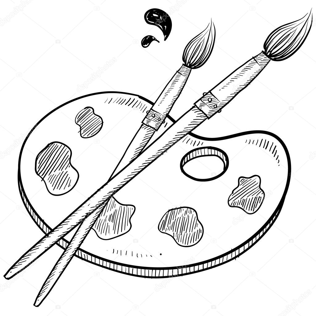 Artist S Brushes And Palette