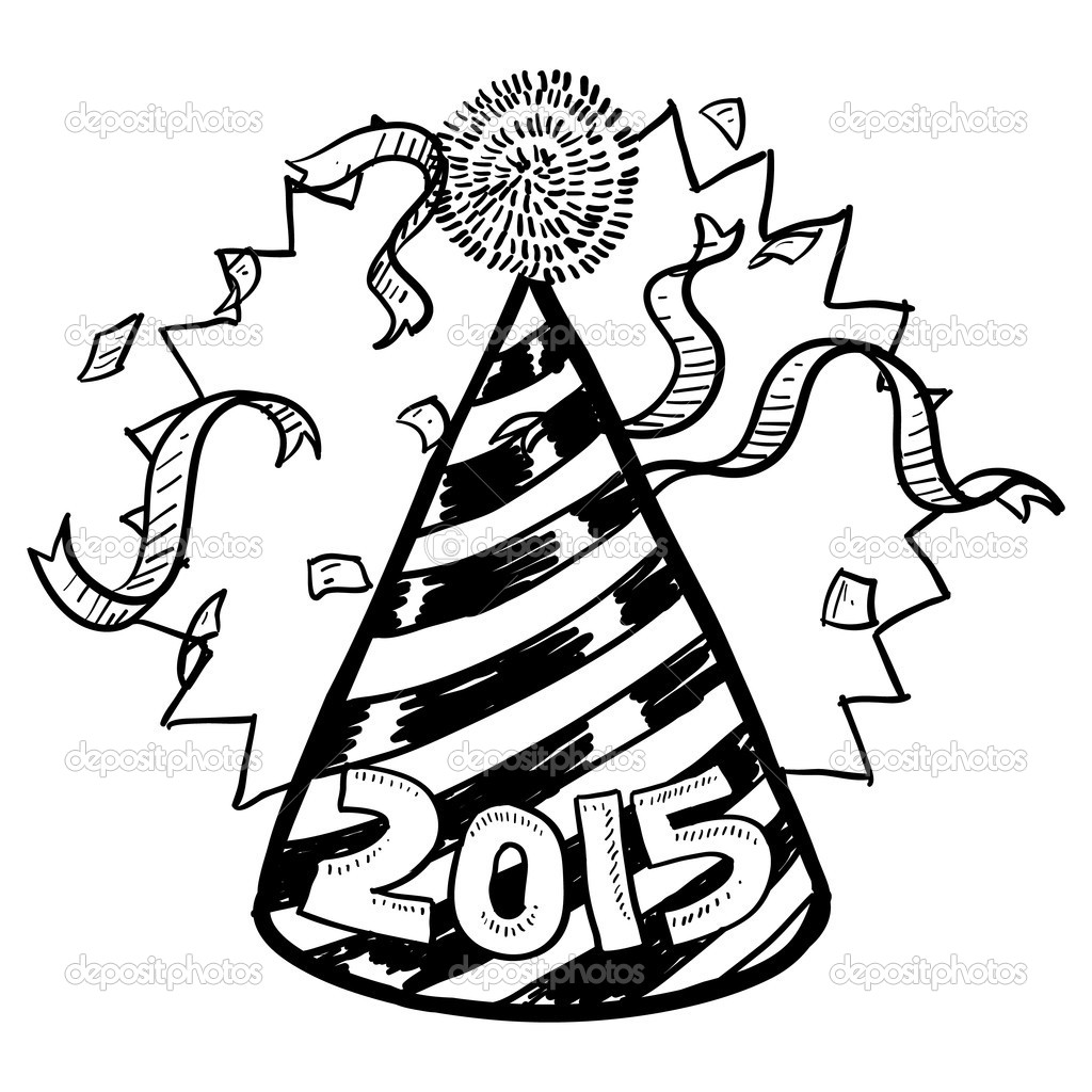 New Years 2015 sketch — Stock Photo © lhfgraphics #16212635