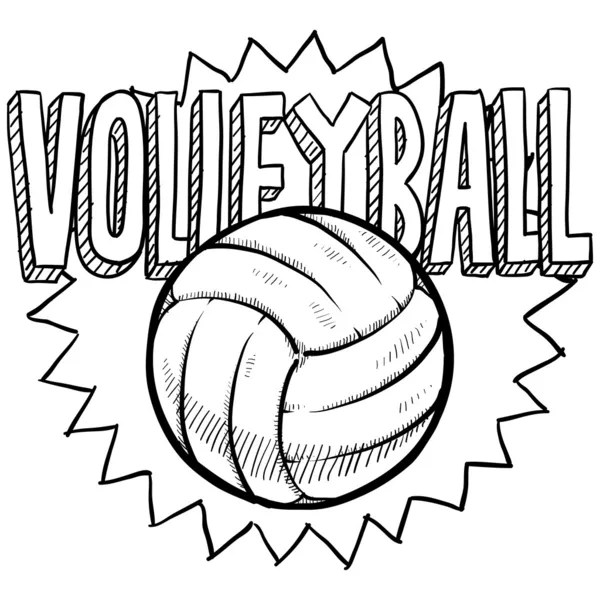 Volleyball sketch — Stock Vector © lhfgraphics #18320637